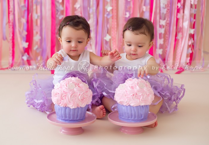 Cake Ideas For Twins First Birthday : Happy birthday K and S! 1 year old twins celebrate their ...