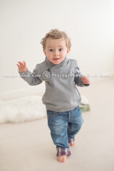 Heidi Hope RI - Little boy in gray sweater