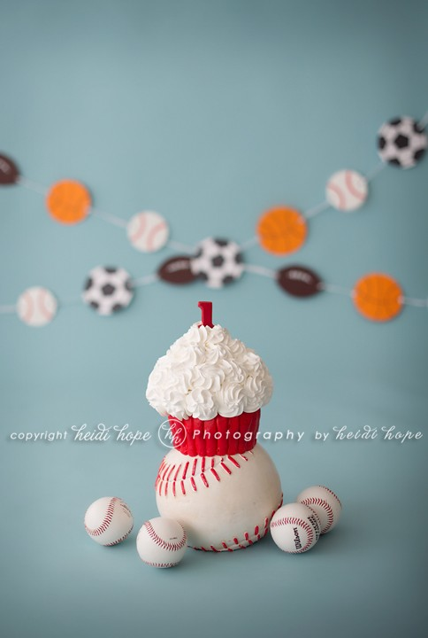 Heidi Hope photography New England's Natural Light studio - Sports Cake Smash