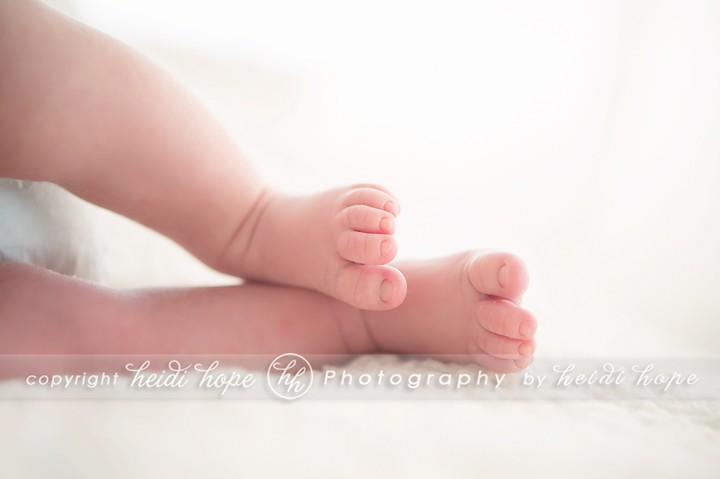 Boy newborn feet - Photography studio Heidi Hope