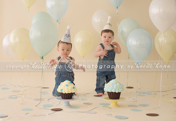 A Classic Baby Boy Cake Smash For The Most Adorable Twin