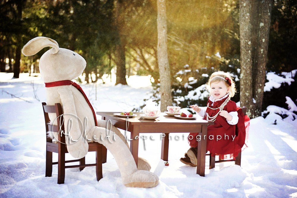 Heidi Hope Shoot - Baby girl snow tea party