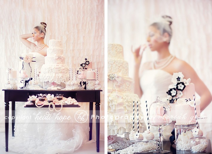 Cake detail, table of cakes - Heidi Hope Photography