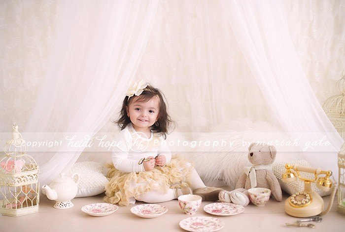 Two year old birthday shoot with props