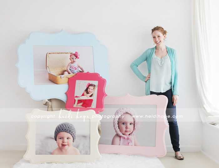 organic bloom frames and wall art on display at Heidi Hope Photography