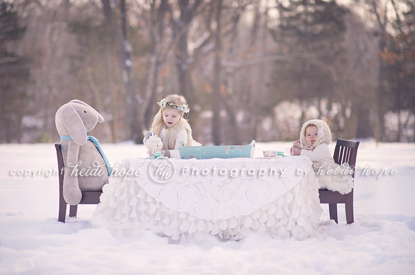 Alice in Wonderland Shoot - Two Girls Tea Party