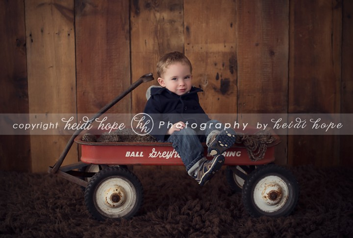toddler portrait in wagon