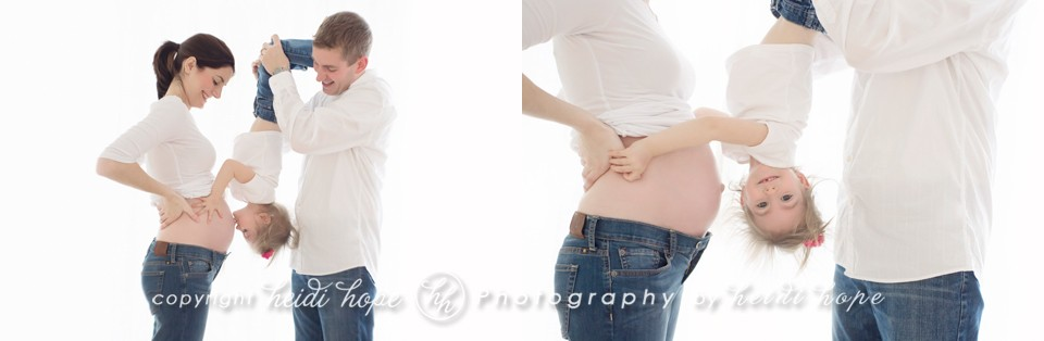 family maternity session with older sibling