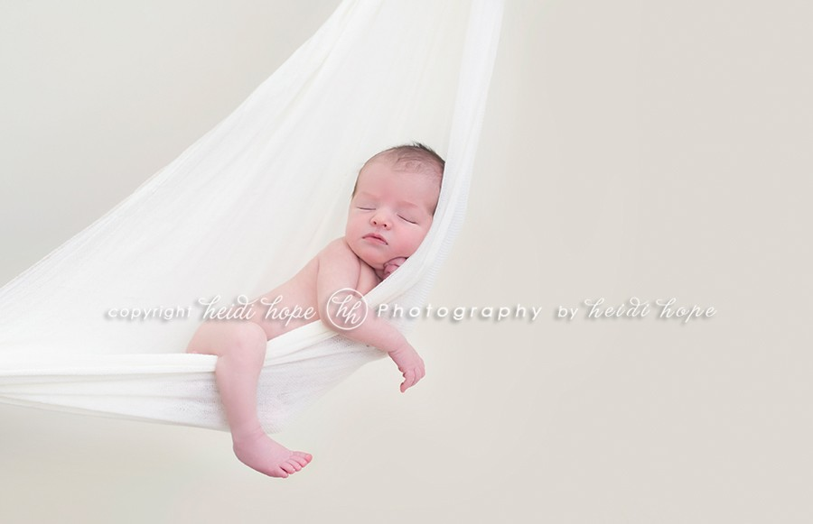 newborn in hammock by heidi hope photography