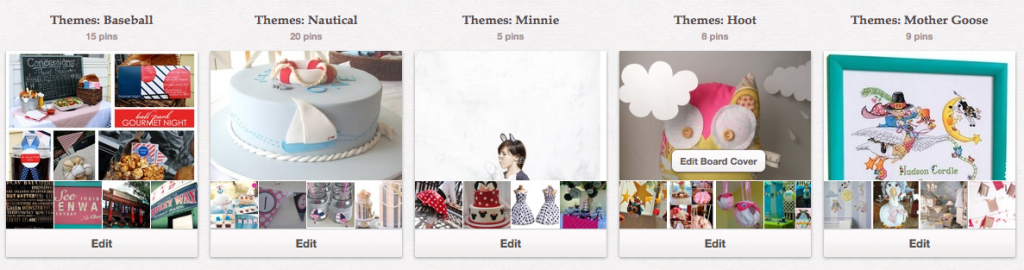 organize your pinterest boards by changing titles