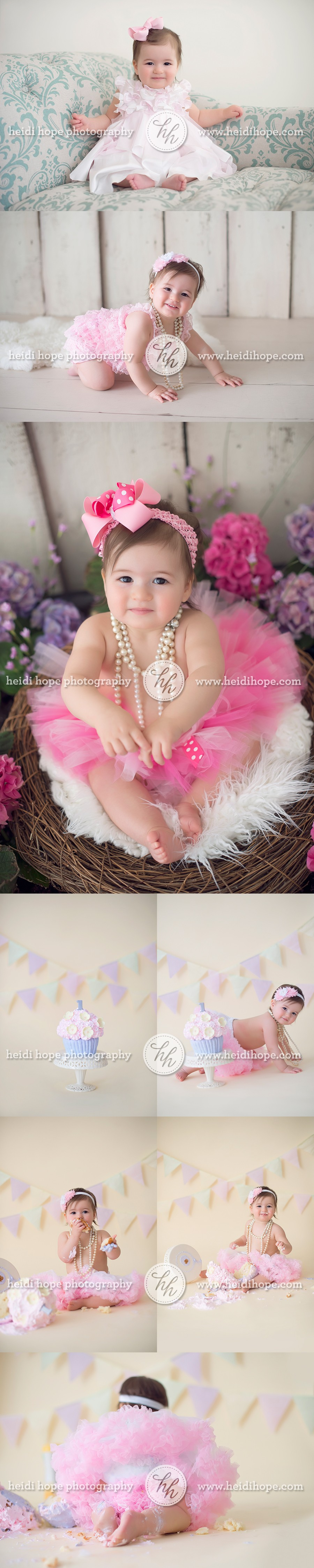 baby girl first birthday cake smash photographer