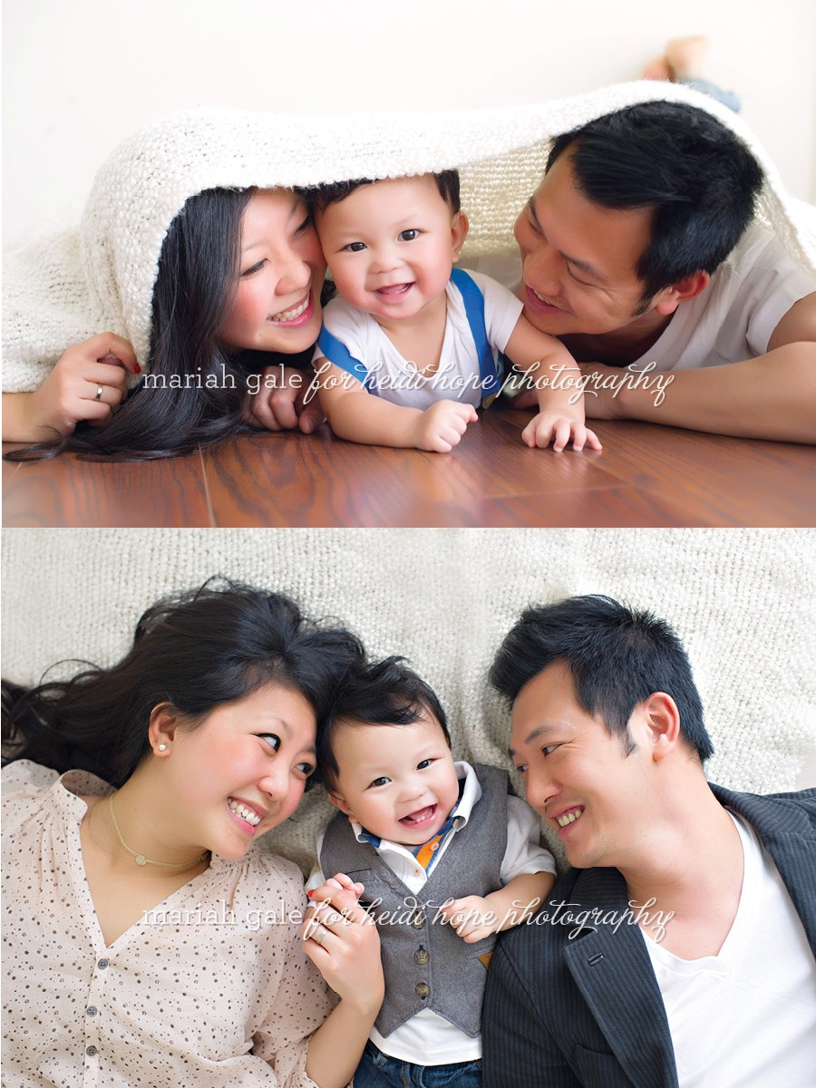 Fun, Creative Studio Family Photos #heidihopephotography