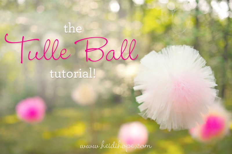 tulle ball tutorial