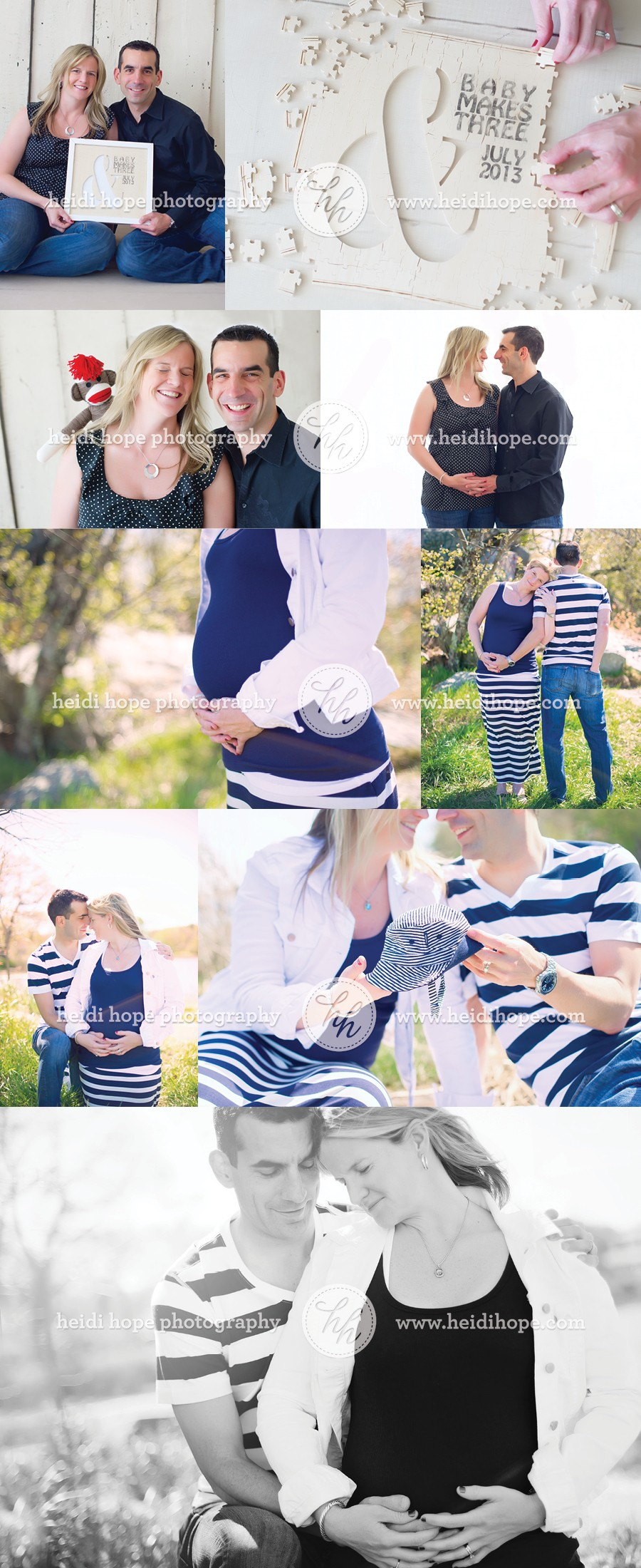Outdoor Maternity Photo Shoot by Heidi Hope Photography #maternity #couple #outdoor #phootshoot #studio #pregnancy announcement idea