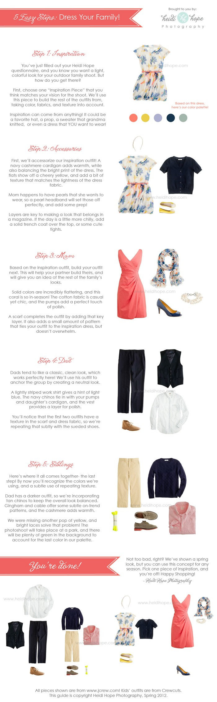 Wardrobe Wednesday: How to dress your family for portraits!