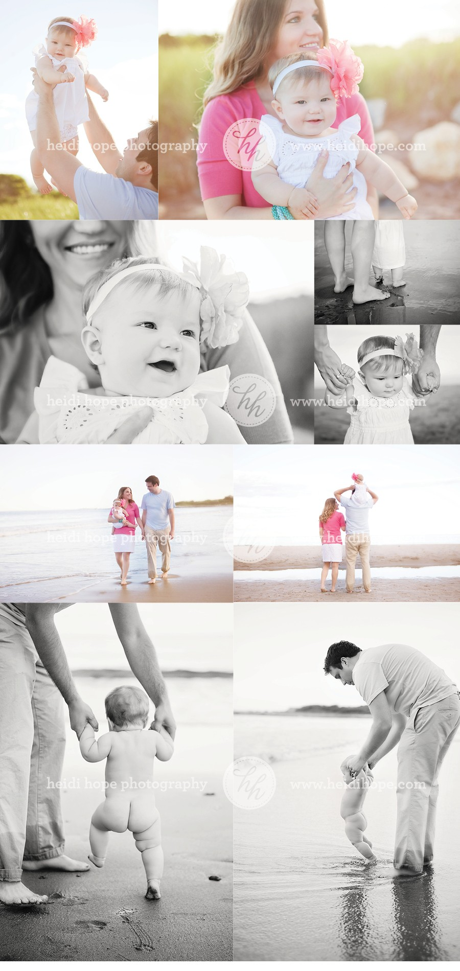 Family Beach Photoshoot at Sunset by Heidi Hope Photography