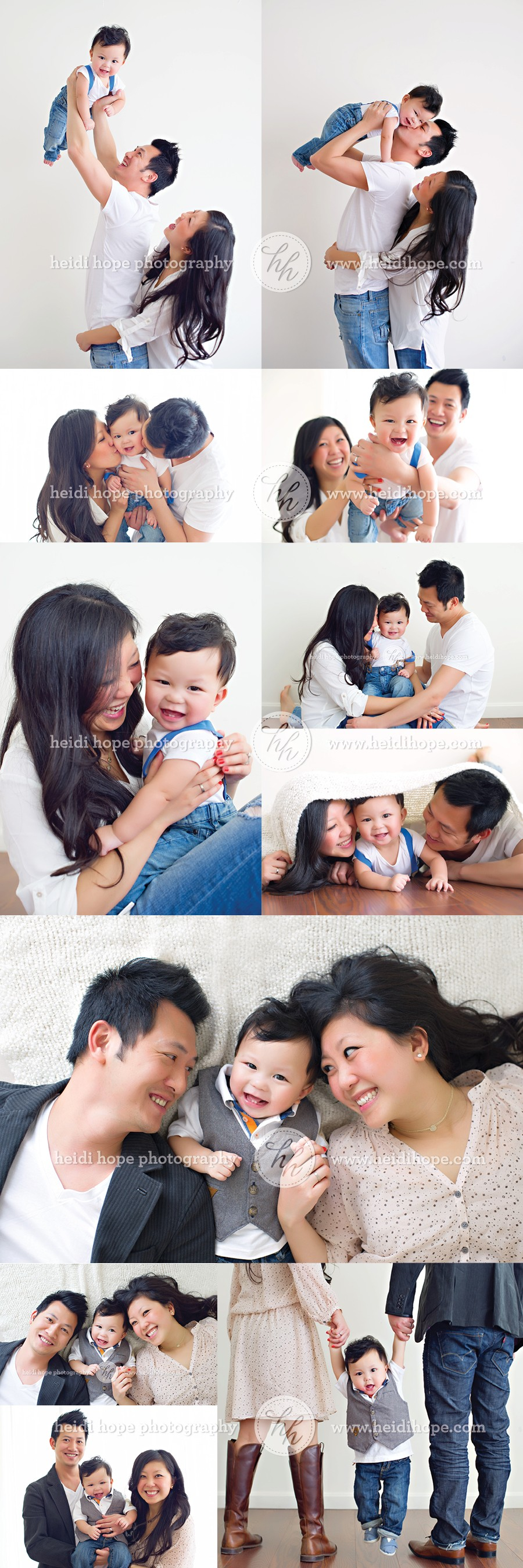 Family session in the studio by Heidi Hope Photograpy #9months #family #photoshoot #studio #session #naturallight