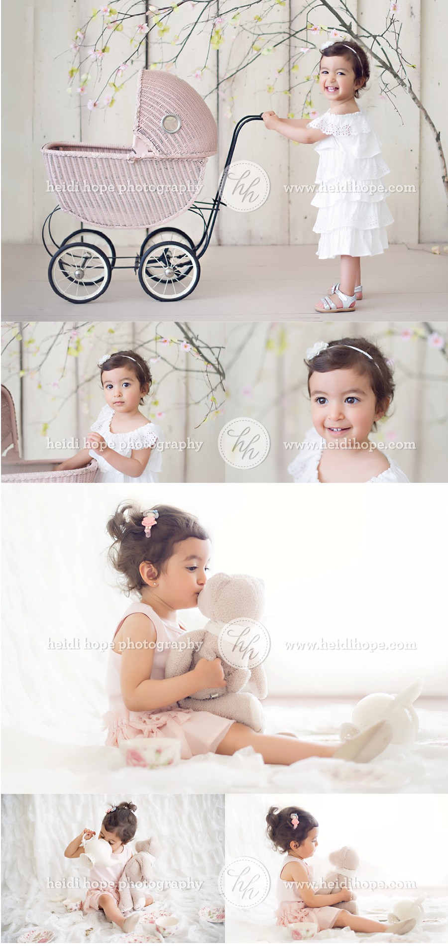 Tea Party and Carriage Photo Shoot, Toddler Studio Photoshoot by Heidi Hope Photography