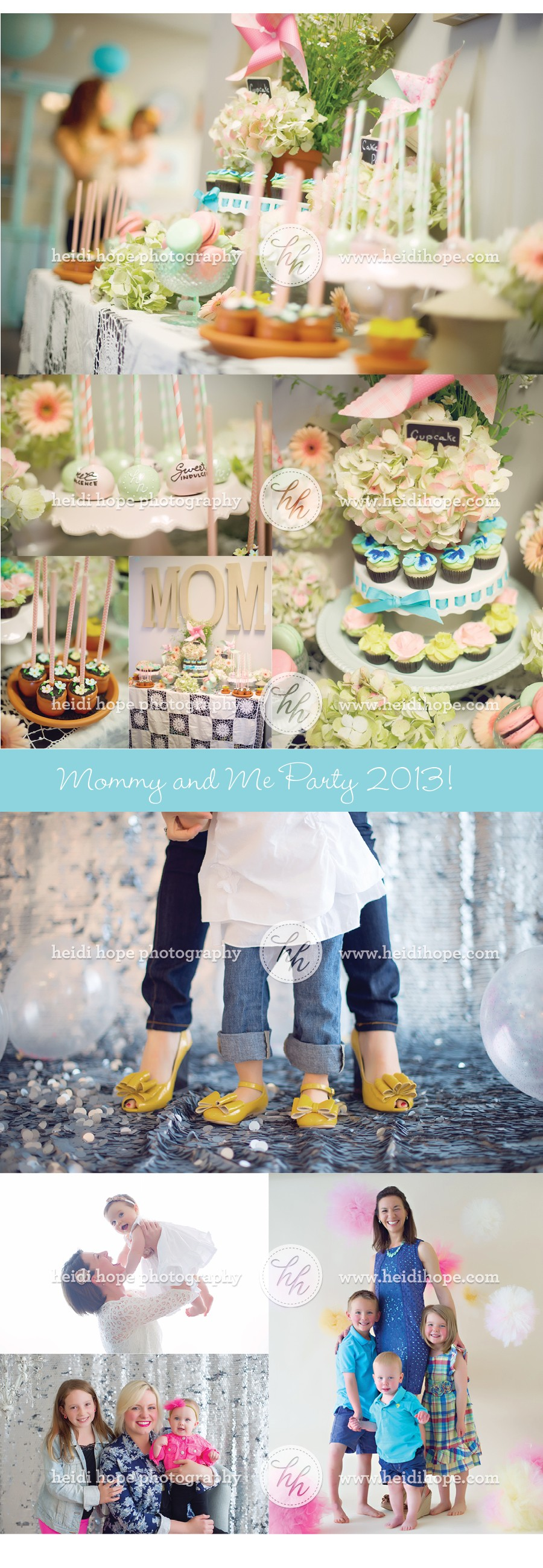 Mommy and Me Portrait Party 2013 for Mother's Day! Heidi Hope Photography #mother's day #portrait party #moms