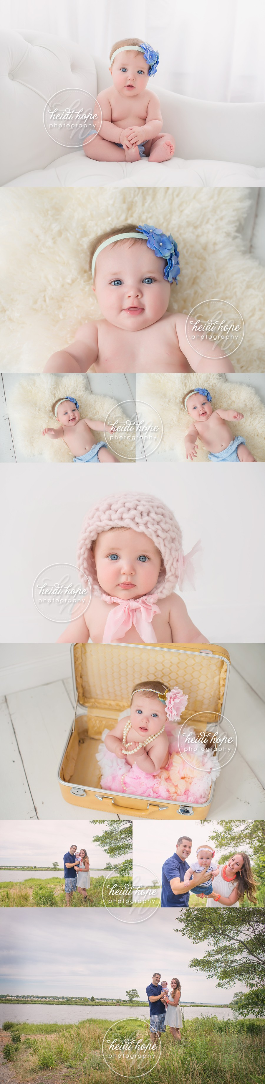 C's 6 month old baby session at the studio and outdoor ...