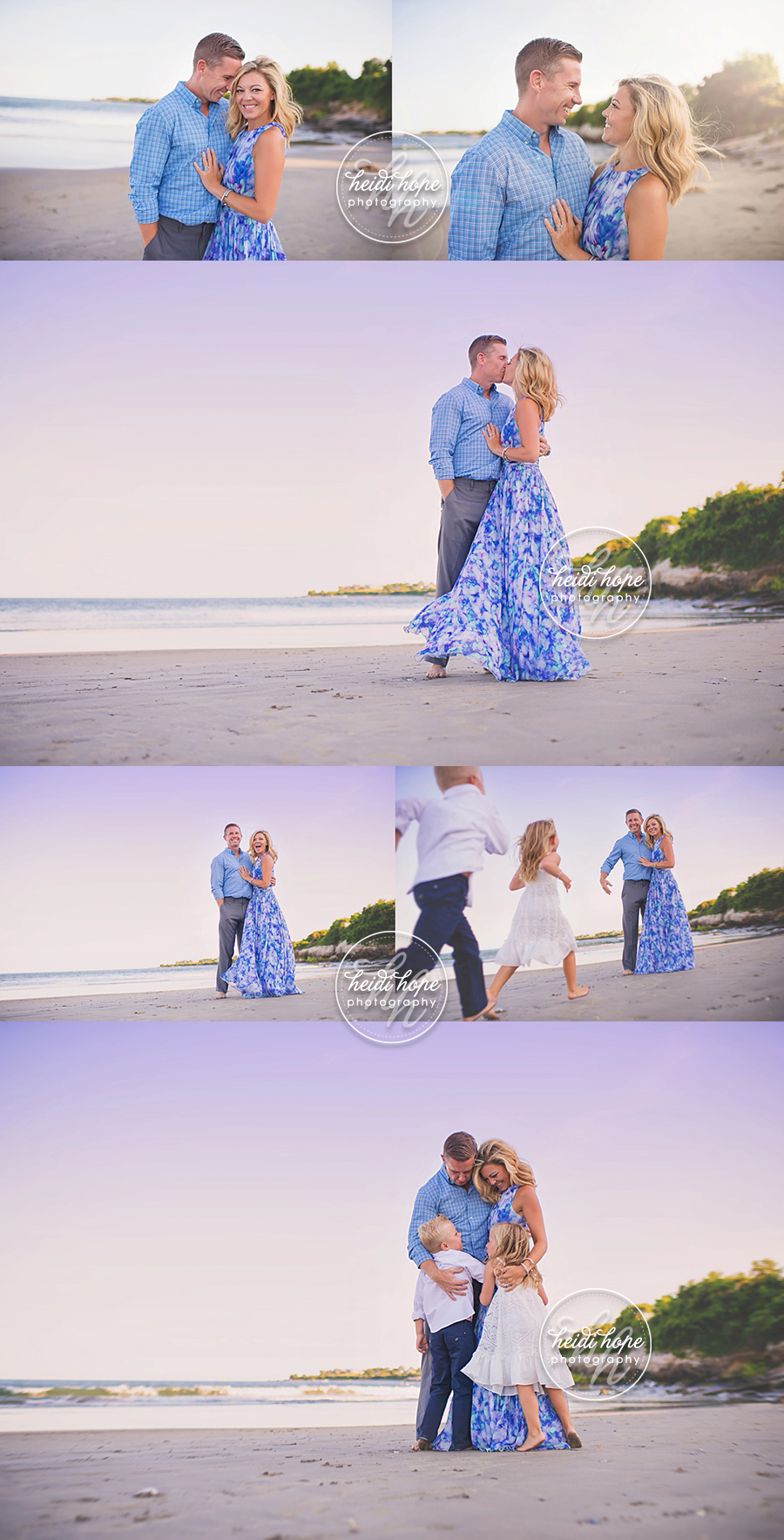 A Family Portrait Session On The Beach At Sunset By Rhode