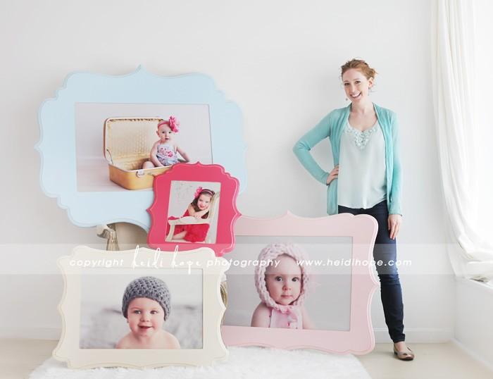 organic bloom frames and wall art on display at Heidi Hope Photography
